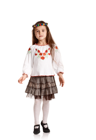 Girl in national costume Stock Photo