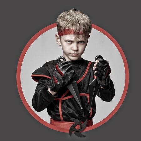 wushu: Avatar of young ninja Stock Photo