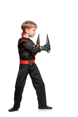 throwing knife: Training with martial weapon Stock Photo