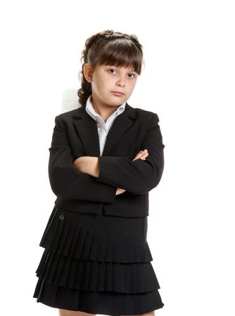 Jeune écolière confiante Banque d'images - 82439610