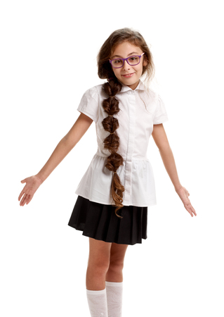 Uninformed girl pupil