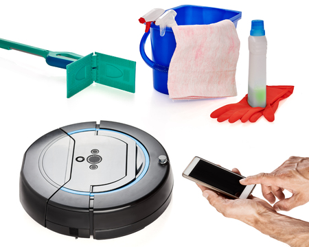 modern Set of tools for cleaning