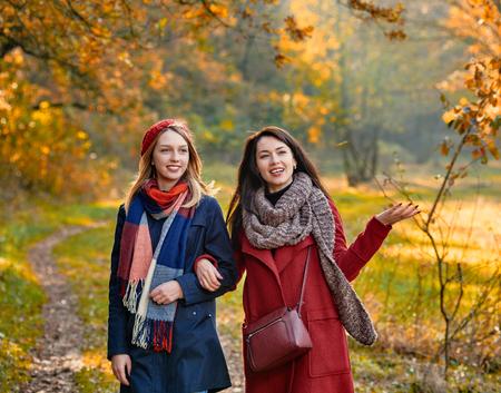 stroll: Stroll in autumn park Stock Photo