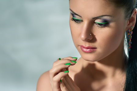 Bright professional maquillage