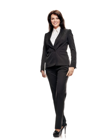 Businesswoman holding tablet Stock Photo