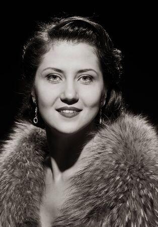 smiling pretty lady portrait