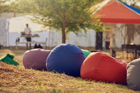 Bean bag chairs Stock Photo