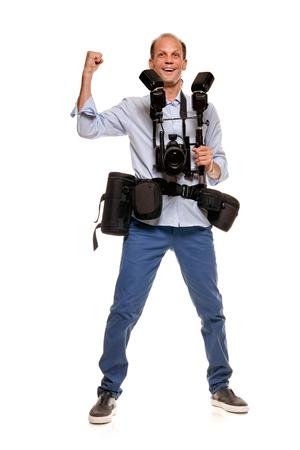 Happy smiling photographer