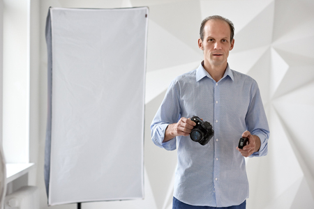 Professional photographer working