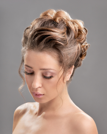 Woman with trendy hairstyle