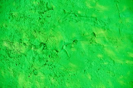 bright green stone wall