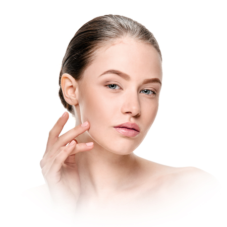 Woman with healthy skin 스톡 콘텐츠