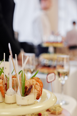Catering banquet food