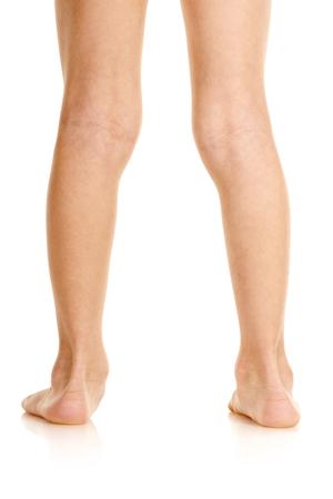 Boy with deformed feet