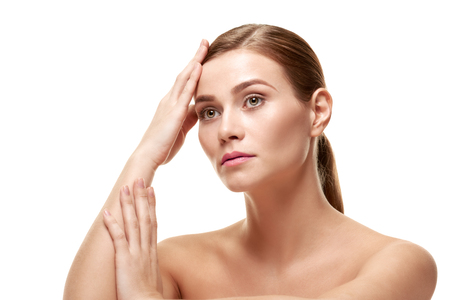 Female beauty healthcare Stock Photo