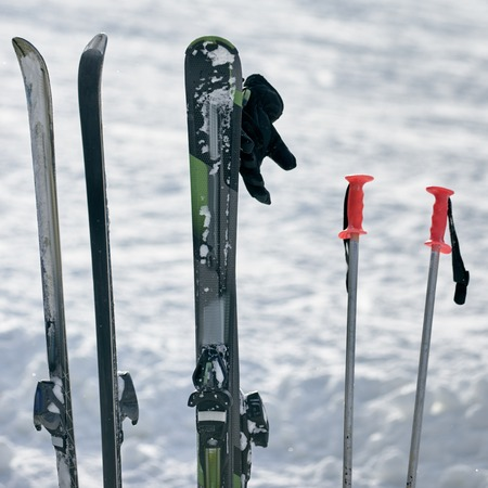 Ski equipment for vacation Banco de Imagens