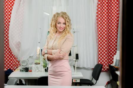 Businesswoman in her atelier