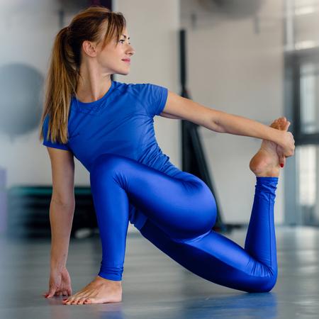 Sportswoman doing aerobics