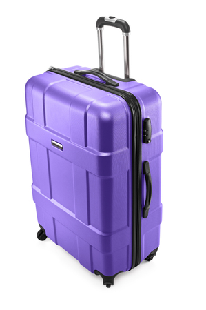 Suitcase with opened handle Stock Photo