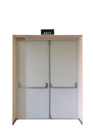 Emergency exit door for quick evacuation from building isolated