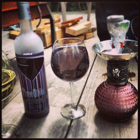 Purple Patio drinks.  Stock Photo