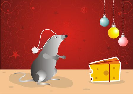 Mr. Mouse Celebrating Xmas Stock Photo - 3543061