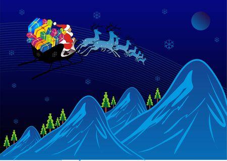 Santa Traveling Stock Photo