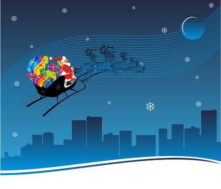 Santa Traveling in Metro City
