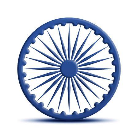 ashoka: Indian Flag Stock Photo