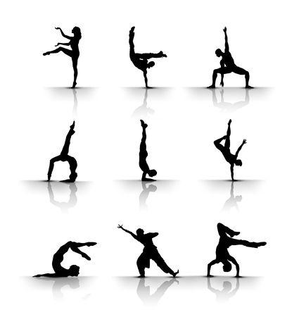 showgirls: Dancing , gymnastic
