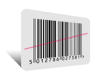 Barcode on White Stock Photo