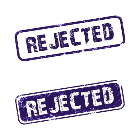 """An """"Rejected rubber stamp with white background Stock Photo"""