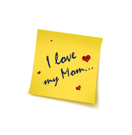 Mother's Day with reminding concept – Post it  Stock Photo
