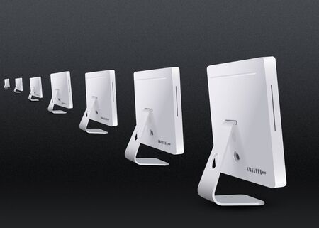Row of iMac - with back view