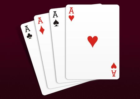Playing Cards - isolated on Dark background
