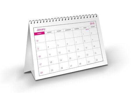 2010 January Calendar Stock Photo - 5339964