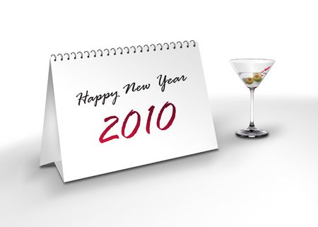 Happy New Year 2010 Stock Photo