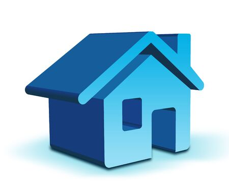 3D Home icon Stock Photo