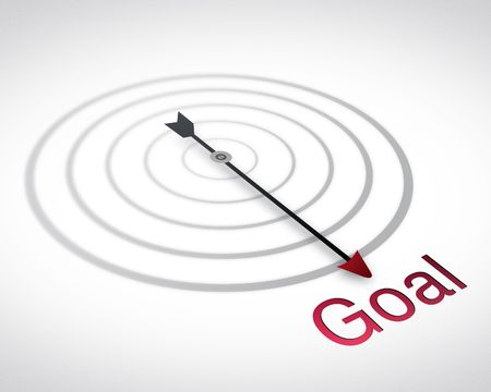 Path to Goal, Compass  Stock Photo