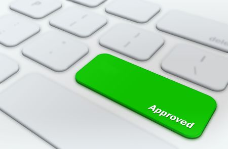 Approved concept  Stock Photo