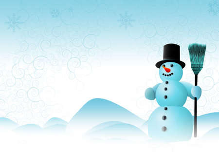 Snowman Scene photo