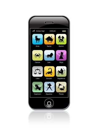 iPhone with Zodiac signs Editorial