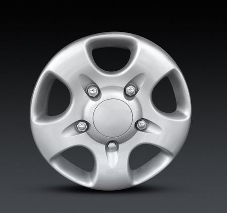 Alloy wheel3_blk Stock Photo