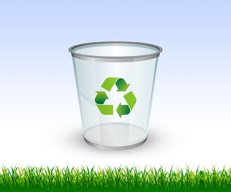 Go Green theme - Glass Recycling bin Stock Photo
