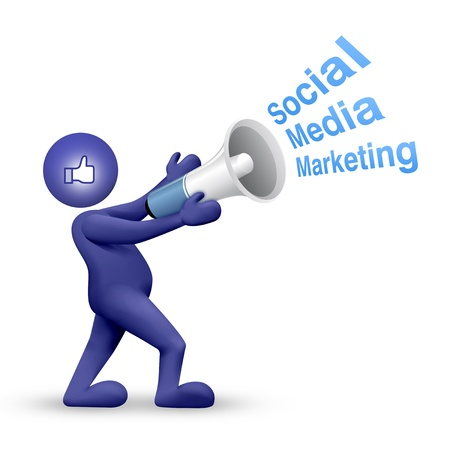 Social Media Network, Concept with 3d man Stock Photo - 10046236