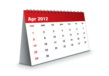 April 2012 - Calendar series Stock Photo - 11081042