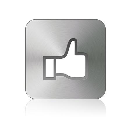 Like - Button Stock Photo