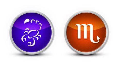 scorpio Zodiac Symbol with white background photo