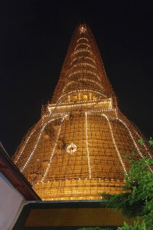 Big Pagoda at night in Thailand. Stock Photo - 6836196