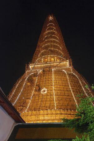 Big Pagoda at night in Thailand. Stock Photo - 6836196